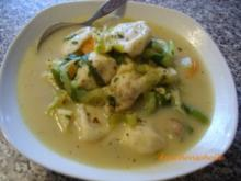 Gemüsesuppe mit Pelmeni - Rezept