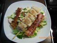 Frühlingssalat mit Schafskäsespieß - Rezept