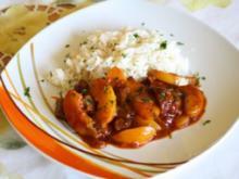 Rindercurry mit Pfirsich - Rezept