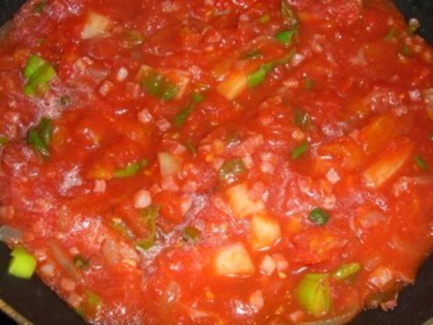 Knusprige Käserollen auf Tomatensauce - Rezept - Bild Nr. 4