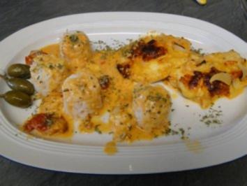 Überbackene Schnitzel mit 3erlei Käse - Rezept