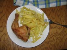 Hähnchenschenkel und Pommes - Rezept