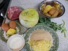 Kohlrabi-Kassler-Auflauf - Rezept