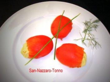 Tomaten-Snack mit Tunfisch-Schaum - Rezept