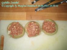 Fleisch – Gefüllte Zwiebeln mit feuriger Zwiebelcreme - Rezept