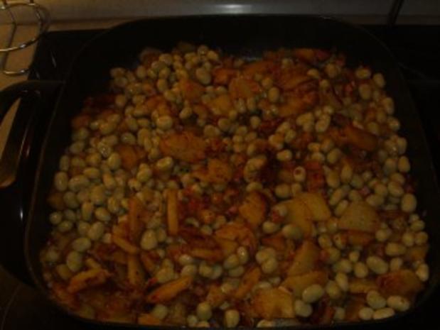 Pfannengerichte: Kartoffeln-Bohnen und Speck - Rezept - Bild Nr. 4