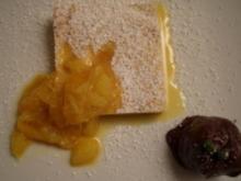 Tatos Lieblingskuchen – Ricottakuchen mit Orangenragout und Maronenpüree - Rezept