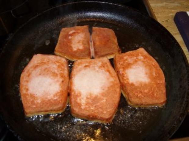 D: Leberkäse mit Bratkartoffeln, Spinat und Spiegelei - Rezept - Bild Nr. 6