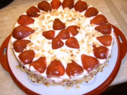 Erdbeer - Quark - Torte - Rezept