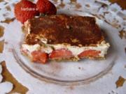 Erdbeer - Quark – Tiramisu - Rezept