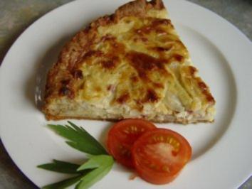 Pikante Käse – Zwiebel – Quiche - Rezept