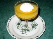 Dessert - Orangengelee mit Sahnetupfer - Rezept