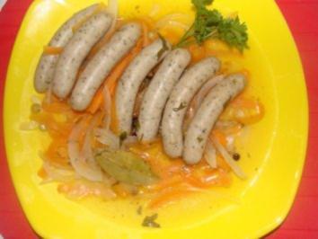 Fleisch : - Bamberger Blaue Würschtla - - Rezept
