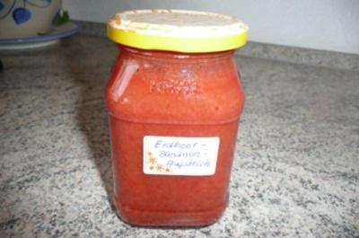 Marmelade: Erdbeer - Bananenmarmelade mit einem Hauch Vanille - Rezept
