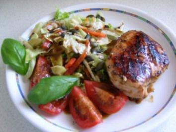 Rezept: Hähnchenbrust mit Salat