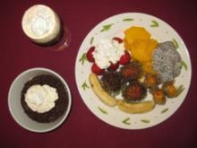 Obstteller mit Vla und Irish Coffee - Rezept