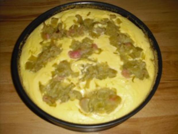 Käsekuchen mit Rhabarber - Rezept - Bild Nr. 2