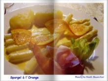 Spargel mit Orangen-Vinaigrette - Rezept