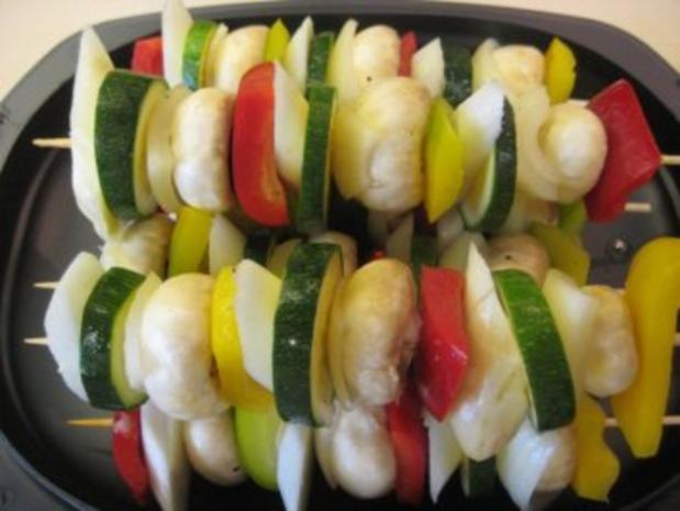 Gemüsespieße gegrillt - Rezept - Bild Nr. 2