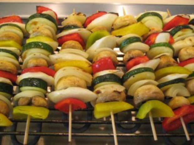 Gemüsespieße gegrillt - Rezept - Bild Nr. 3