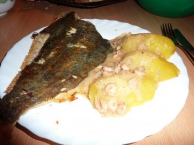 Fisch: Scholle gebraten mit Krabbensoße - Rezept - Bild Nr. 12