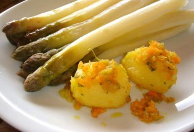 Spargeln mit Soffritto-Kartoffeln und Mayo-Mousseline - Rezept - Bild Nr. 4