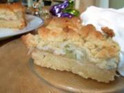 Rhabarber-Tonka-Krümelkuchen - Rezept