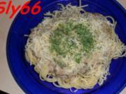 Soßen:Thunfischsoße mit Lauch und Champignon - Rezept