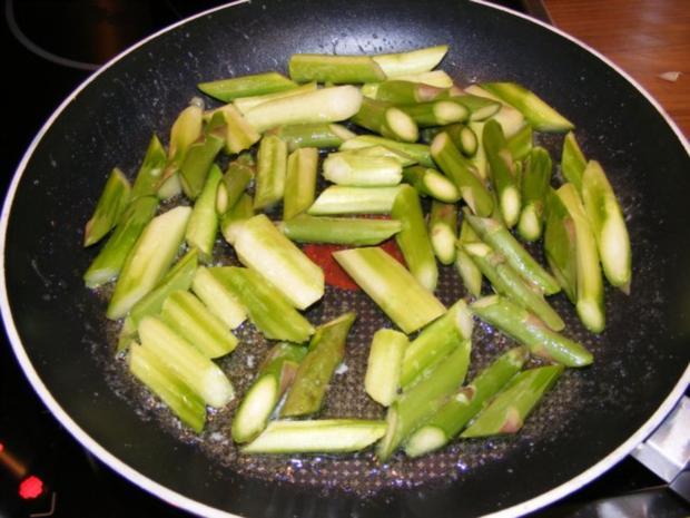 Linguine mit grünem Spargel - Rezept - Bild Nr. 4