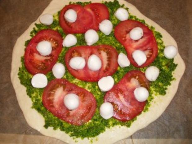 Pizza: Bärlauch-Margarita - Rezept - Bild Nr. 4