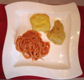 Piccata vom Seehecht mit Tomatenspaghetti - Rezept