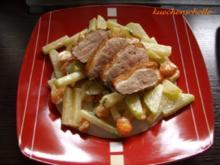 Kohlrabi-Möhren-Rahm-Gemüse mit Entenbrust - Rezept