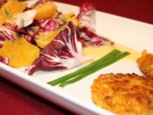 Süßkartoffelpuffer mit Radicchio-Orangen-Salat - Rezept