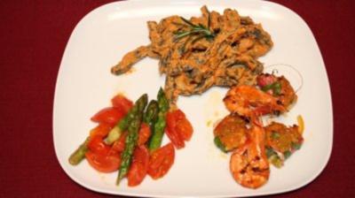 Fischröllchen mit Orangenbutter und selbst gemachten Nudeln - Rezept