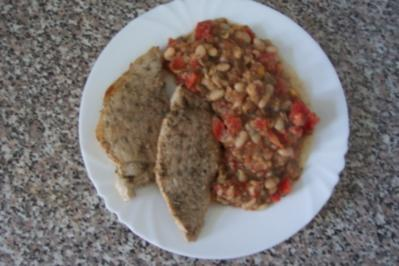 Filet an Bohnengemüse - Rezept