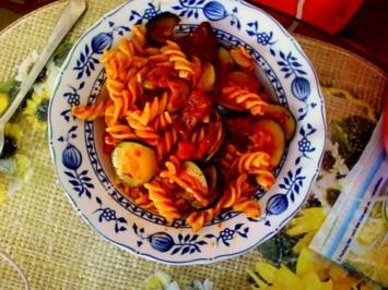 Zucchini - Nudel -Pfanne - Rezept