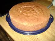 Bisquitboden hoch - Biskuit - Bisquit - Tortenboden hell oder dunkel - wie vom Bäcker - Rezept