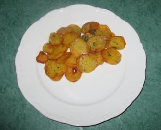 Rezept: Kartoffeln - Röstkartoffeln von gekochten Kartoffeln