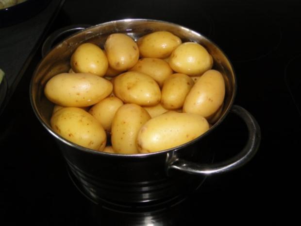Frischen Spargel in Kresseschaumsösschen mit Lachs und gebratenen Drillingen - Rezept - Bild Nr. 4
