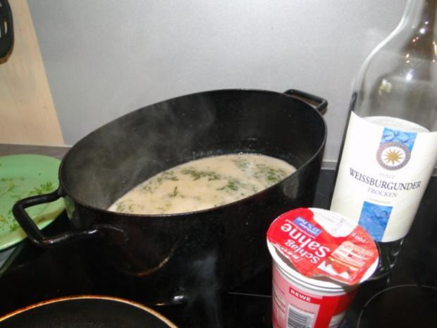 Frischen Spargel in Kresseschaumsösschen mit Lachs und gebratenen Drillingen - Rezept - Bild Nr. 7