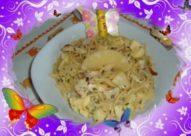 Geflügel : Spaghetti- Hähnchen - Pfanne - Rezept
