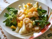 Spargelsalat mit Mango und Garnelen - Rezept