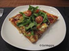 Ruccola-Champignons-Pizza - Rezept