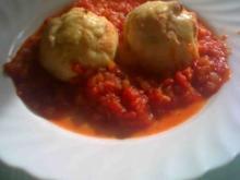 Zwiebelmett versteckt in Kartoffelbuchteln - Rezept