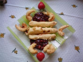 Spargel im Tempuramantel mit Garnelen an Erdbeer-Balsamico-Chutney - Rezept