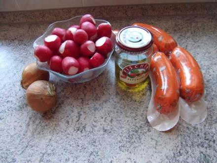 Wurstsalat mit Radieschen Dieter´s Art - Rezept