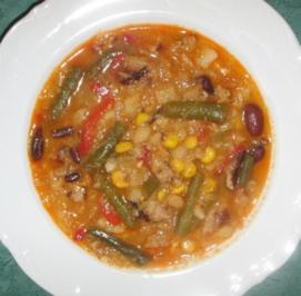 Suppe/Klar - Scharfe Bratkartoffel-Gemüsesuppe a la Chrissi - Rezept
