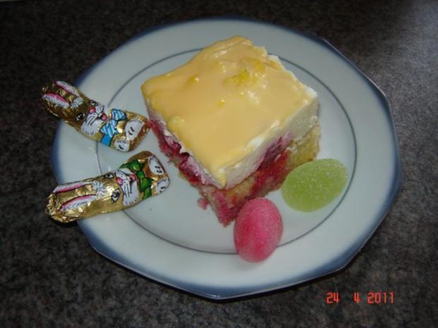 Kuchen & Torten : Himbeer-Schmand-Kuchen mit Eierlikörguß - Rezept