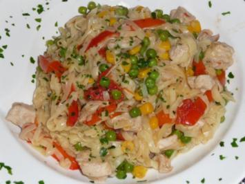 Hühnchenpfanne mit viel Gemüse - Rezept