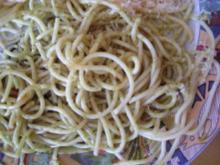 Spaghetti mit steirischem Kürbiskernöl - Rezept